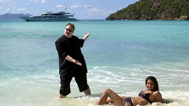 Dotcom has both a Woman in a Bikini and a Yacht
