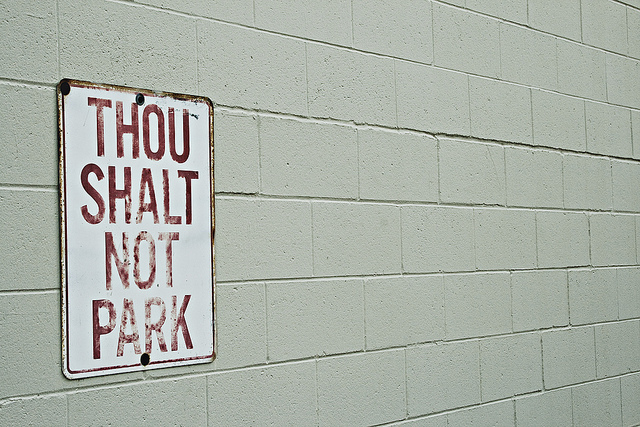 Thou Shall Not Park, Source: Flickr